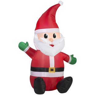 55ef2ef3b8f Outdoor Santa with Hat Inflatable
