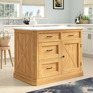 Burbury Country Lodge Kitchen Island Marble
