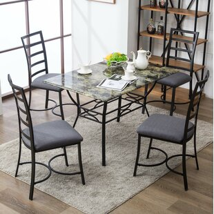 Stemple 5 Piece Dining Set
