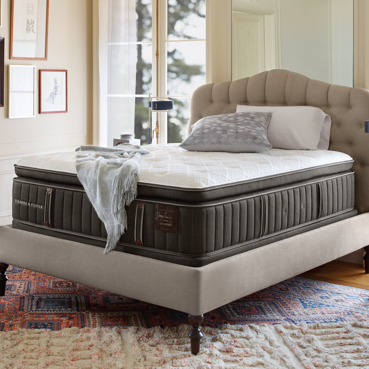 stearns and foster king mattress. Stearns \u0026 Foster Lux Estate Pompano 16.5\ And King Mattress
