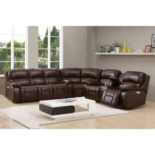 Westminster Ii Leather Reversible Reclining Sectional