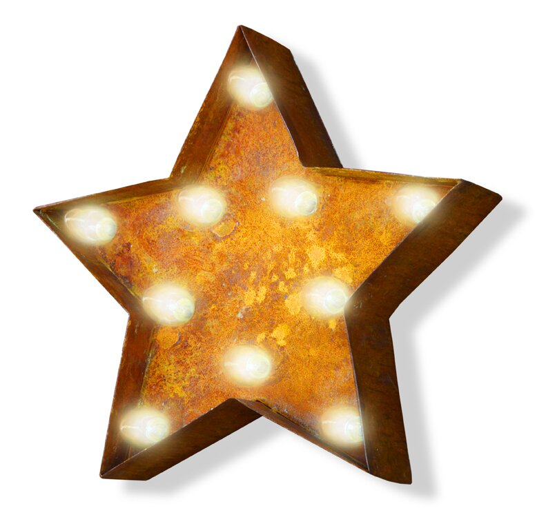 Iconics Star Steel Marquee Sign Wall Décor Part 64