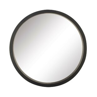 Modern Contemporary Black Framed Round Mirror Allmodern