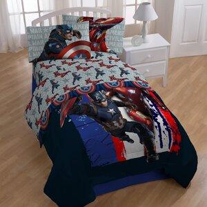 Captain America 'Civil War Lightning' Twin Sheet Set