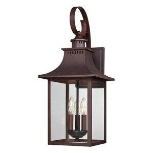 Lathan 3-Light Outdoor Wall Lantern