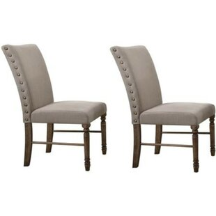 Minard Nailhead Trim Upholstered Dining Chair (Set of 2)
