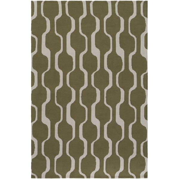 artistic weavers joan tilden olive green area rug & reviews | wayfair
