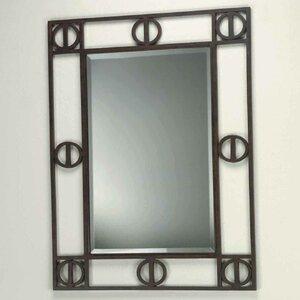rectangle brown metal framed mirror - Metal Mirror Frame