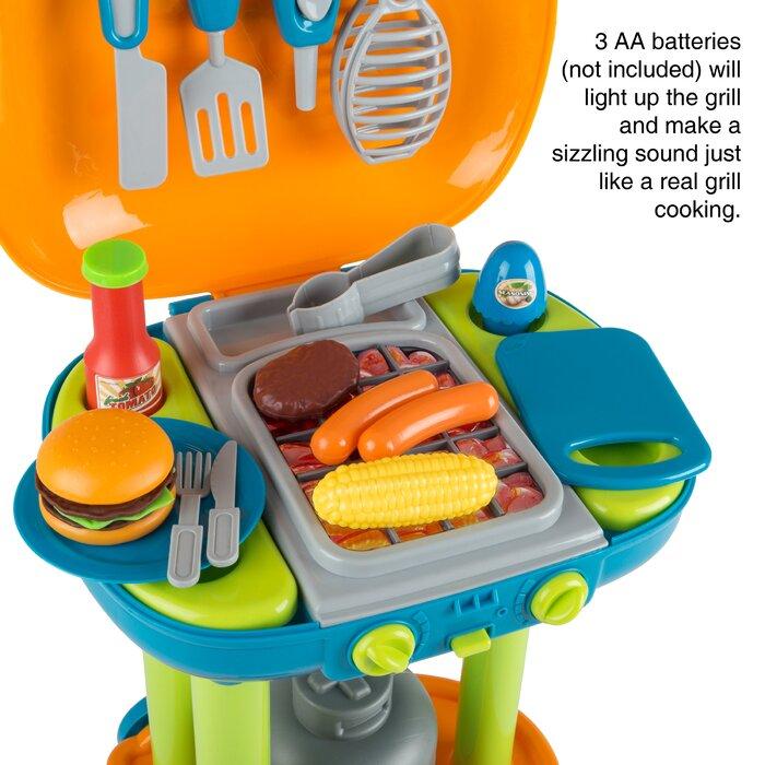 Pretend Play BBQ Grill Toy Kitchen Set