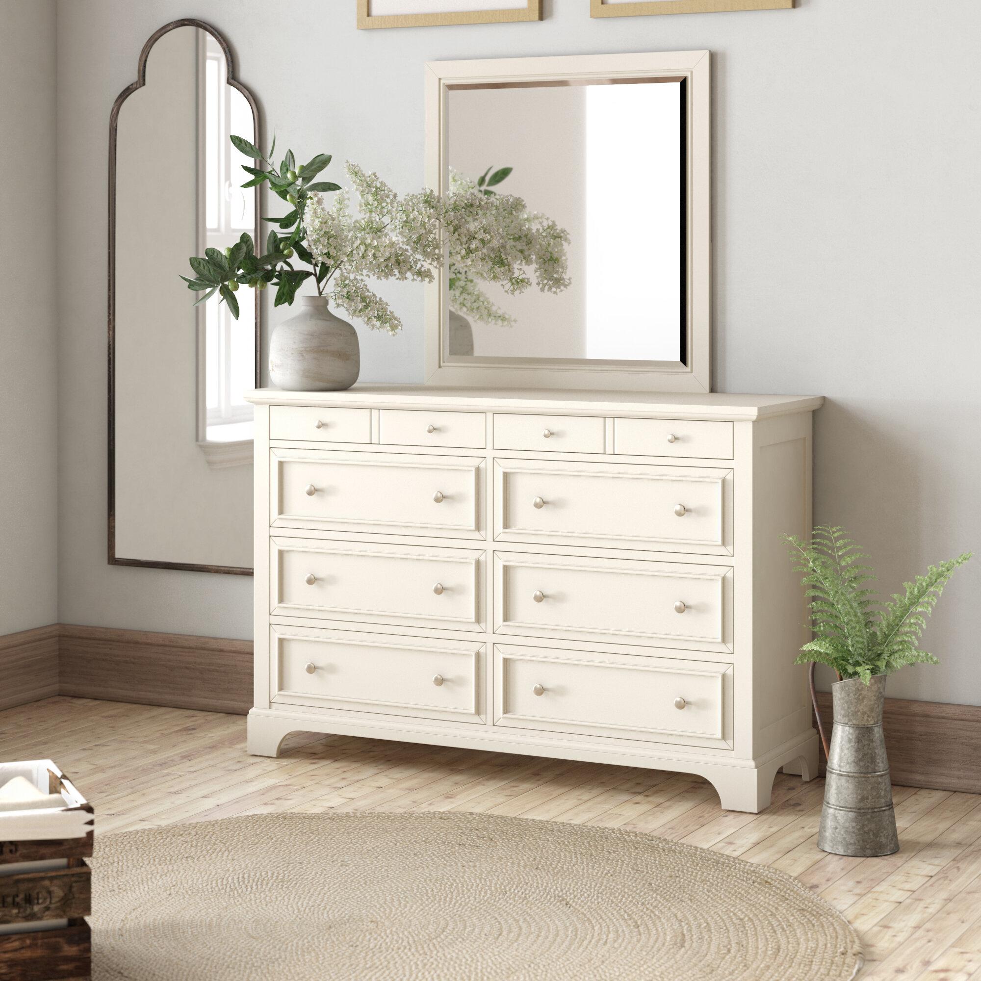 Birch Lane Heritage Parks 8 Drawer Dresser With Mirror Reviews