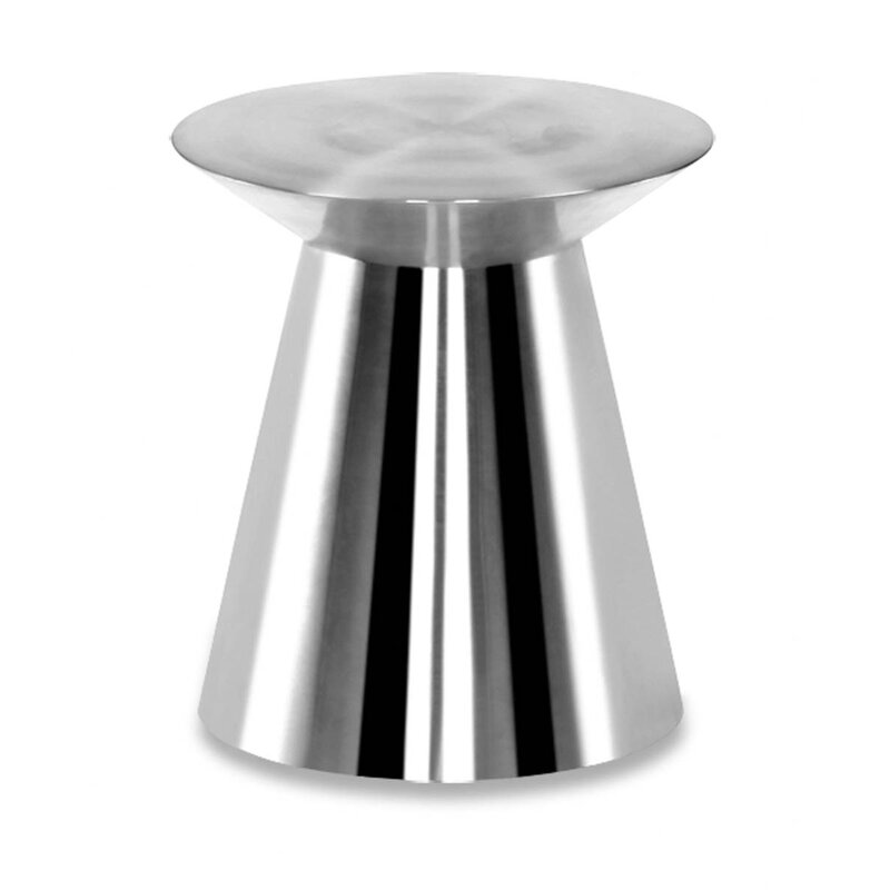 100 Essentials Circle Stainless Steel Side Table