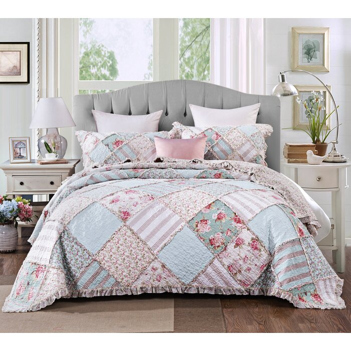 August Grove Dada Bedding Hint Of Mint Pastel Cotton Patchwork