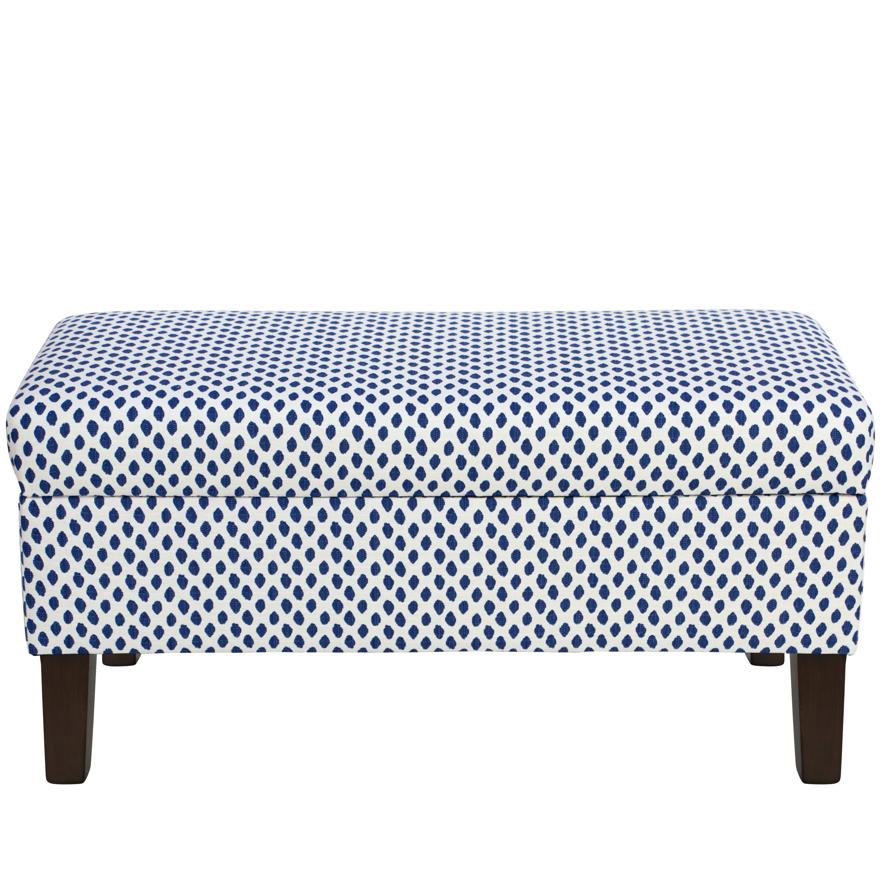 Ivy Bronx Adelyn Cotton Upholstered Storage Bench | Wayfair