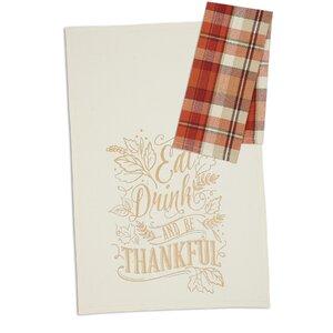 Be Thankful 2 Piece Dishcloth Set (Set of 4)