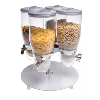 Cal mil 84535 oz pentadruple canister cylinder cereal dispenser cylinder 473 oz cereal dispenser ccuart Image collections