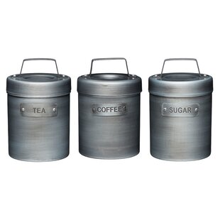 Kitchen 3 Piece Coffee Tea Sugar Set