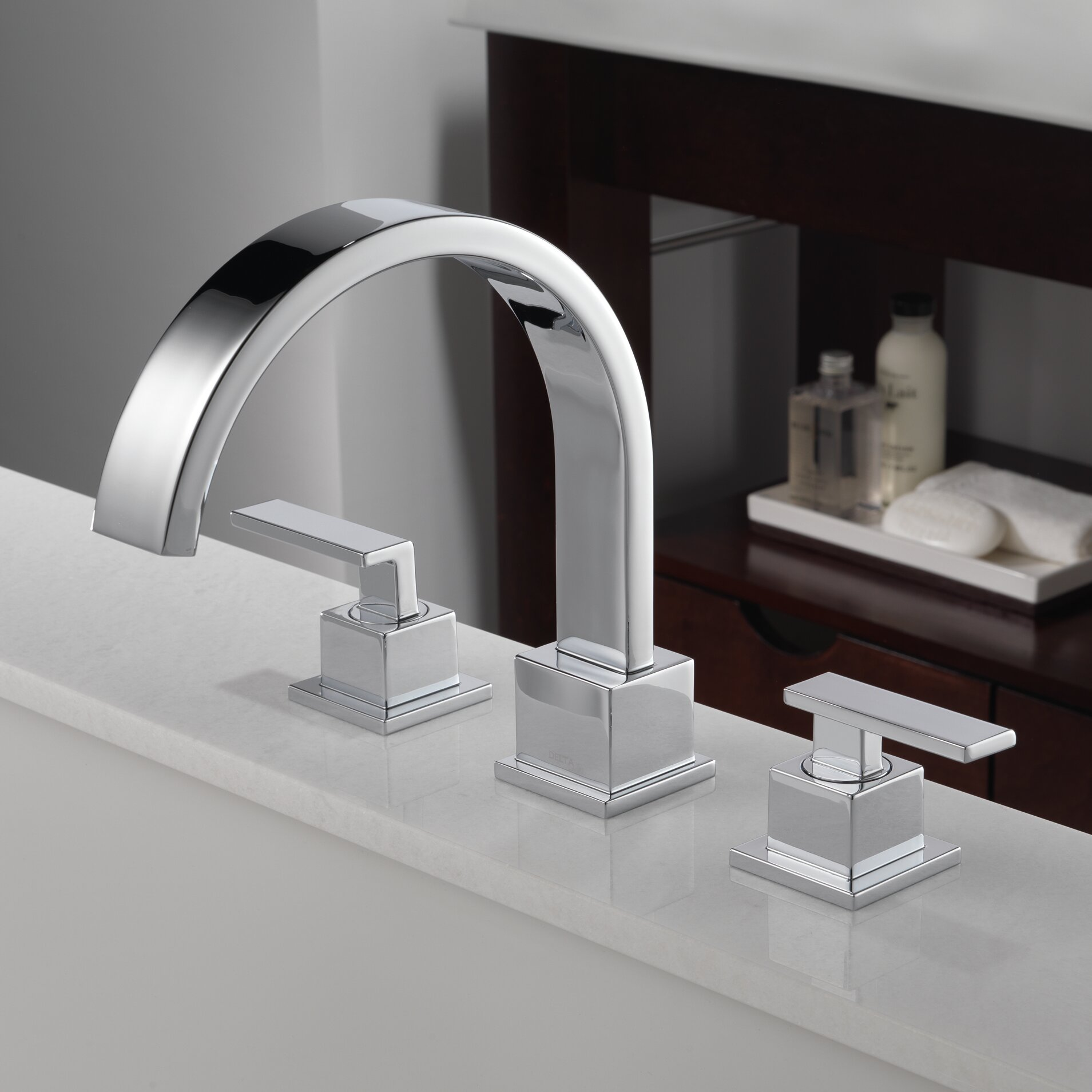 T2753 Sscz Delta Vero Double Handle Deck Mount Roman Tub Faucet