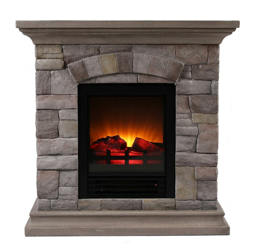 ok lighting portable faux stone electric fireplace reviews. Black Bedroom Furniture Sets. Home Design Ideas