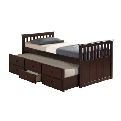 Broyhill® Marco Island Captain's Bed with Trundle Bed and Drawers Color: Espresso, Size: Twin