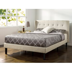 Royer Button Tufted Wingback Upholstered Platform Bed by Varick Gallery