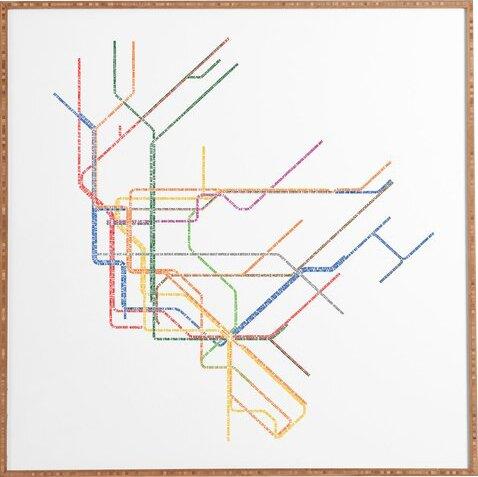 659f69502a8 Mercury Row 'Nyc Subway Map' Framed Wall Art   Reviews