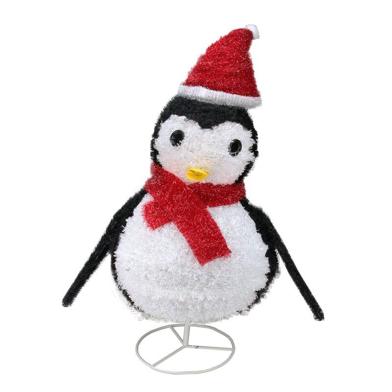 Northlight Pre-Lit Outdoor Chenille Penguin Christmas Decoration | Wayfair