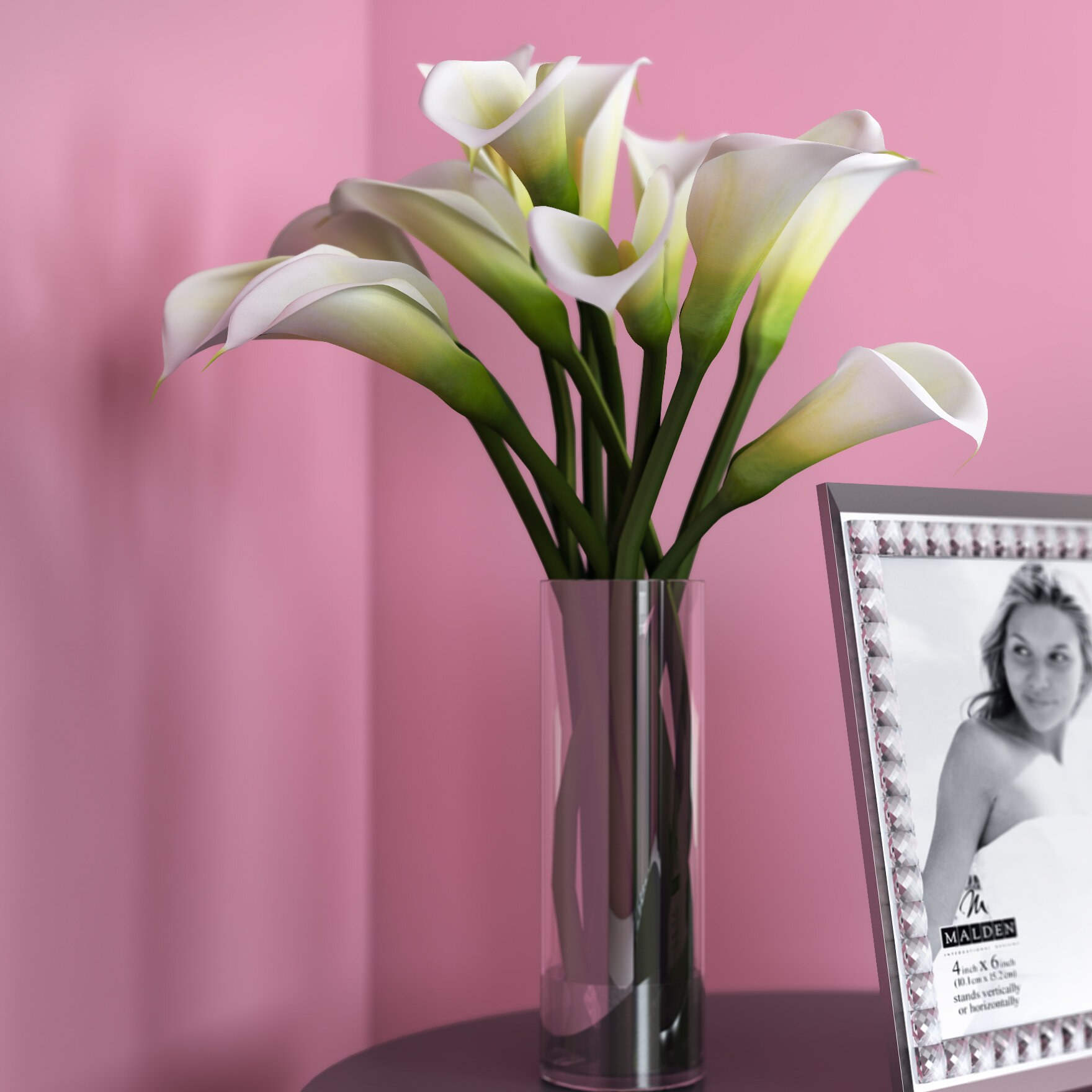 Willa arlo interiors calla lily flower arrangement in flower vase willa arlo interiors calla lily flower arrangement in flower vase reviews wayfair izmirmasajfo