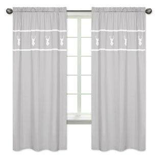 Woodsy Rod Pocket Window Curtain Panels Set Of 2