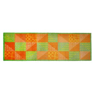 LifeStyle-Mat Patchwork Green/Yellow Rug by Pedrini