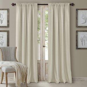 morane cachet solid blackout single curtain panel