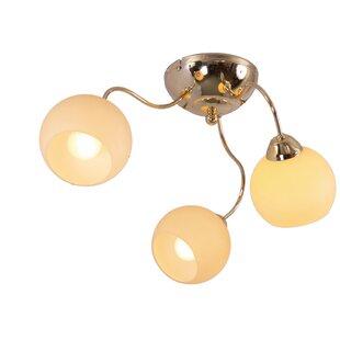 Rose gold light shade wayfair spider 3 light semi flush ceiling light aloadofball Gallery