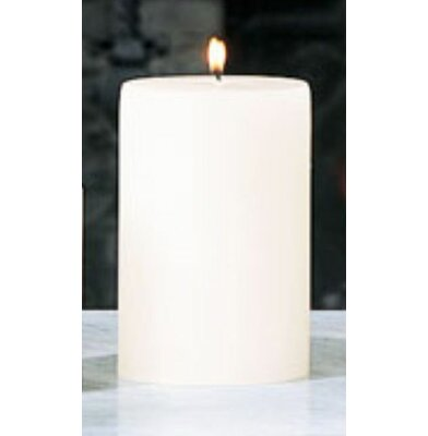 Beachcrest Home Unscented Ivory Pillar Candle Size: 4 x 6