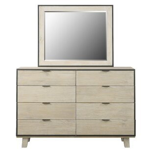 Belmar 8 Drawer Standard Dresser Chest With Mirror