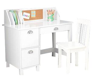 White Kids Desk With Hutch Wayfair