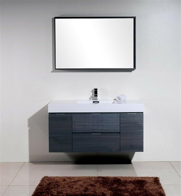 Wade Logan Tenafly 48 Quot Single Wall Mount Modern Bathroom