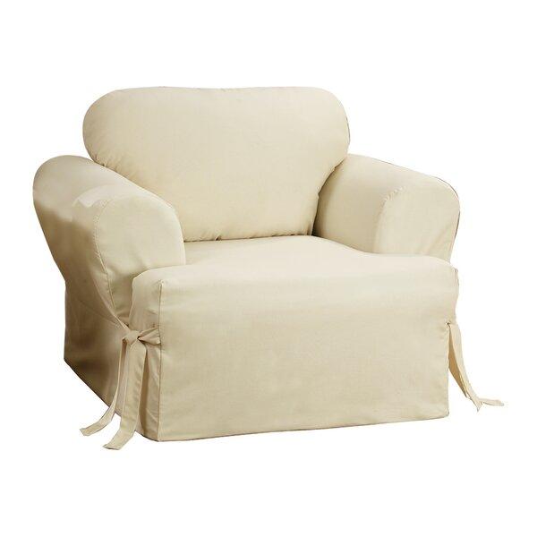 Sure Fit Cotton Duck T Cushion Armchair Slipcover Reviews Wayfair