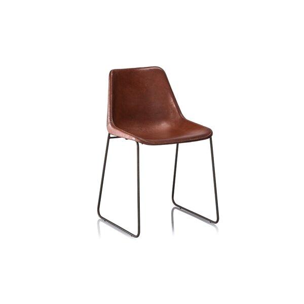 Fashion N You Hudson Genuine Leather Upholstered Dining Chair U0026 Reviews |  Wayfair