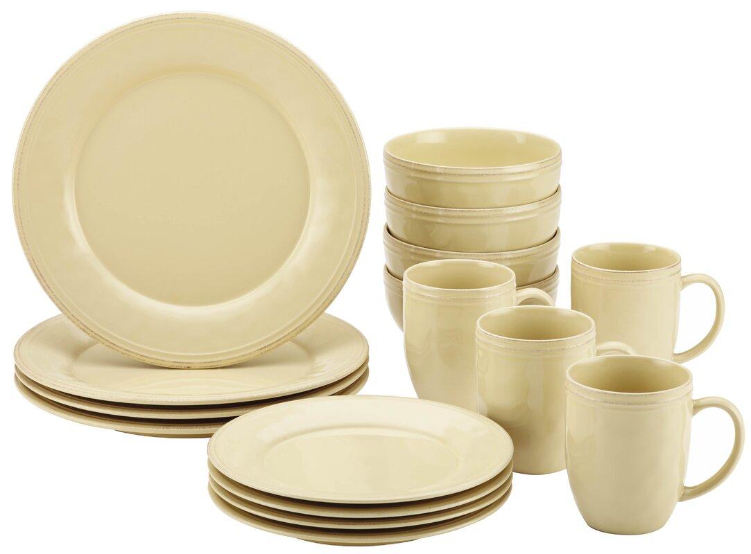 Cucina 16 Piece Dinnerware Set Service for 4  sc 1 st  Wayfair & Rachael Ray Cucina 16 Piece Dinnerware Set Service for 4 \u0026 Reviews ...