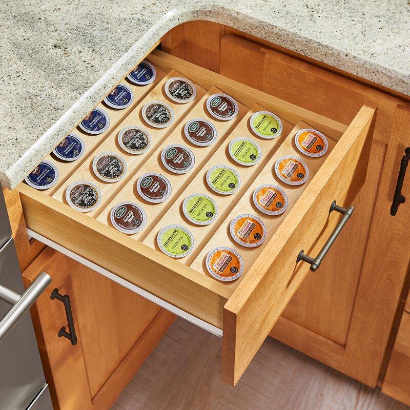 K Cup Custom Drawer Coffee Pod Storage