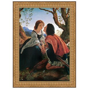 YOUNG LOVERS EMBRACE HUGUENOTS ON ST BARHOLOMEWS DAY PAINTING ART CANVAS PRINT