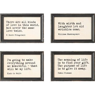 4 Piece Framed Wall Art Set
