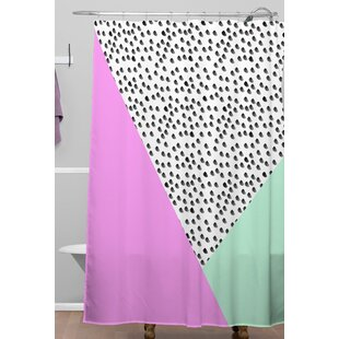 Modern shower curtains Classy Spotted Modern Shower Curtain Amazoncom Modern Shower Curtain Wayfair