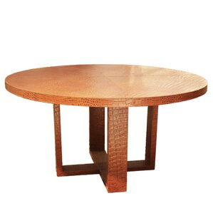 Leather Dining Table by Serge De Troye..