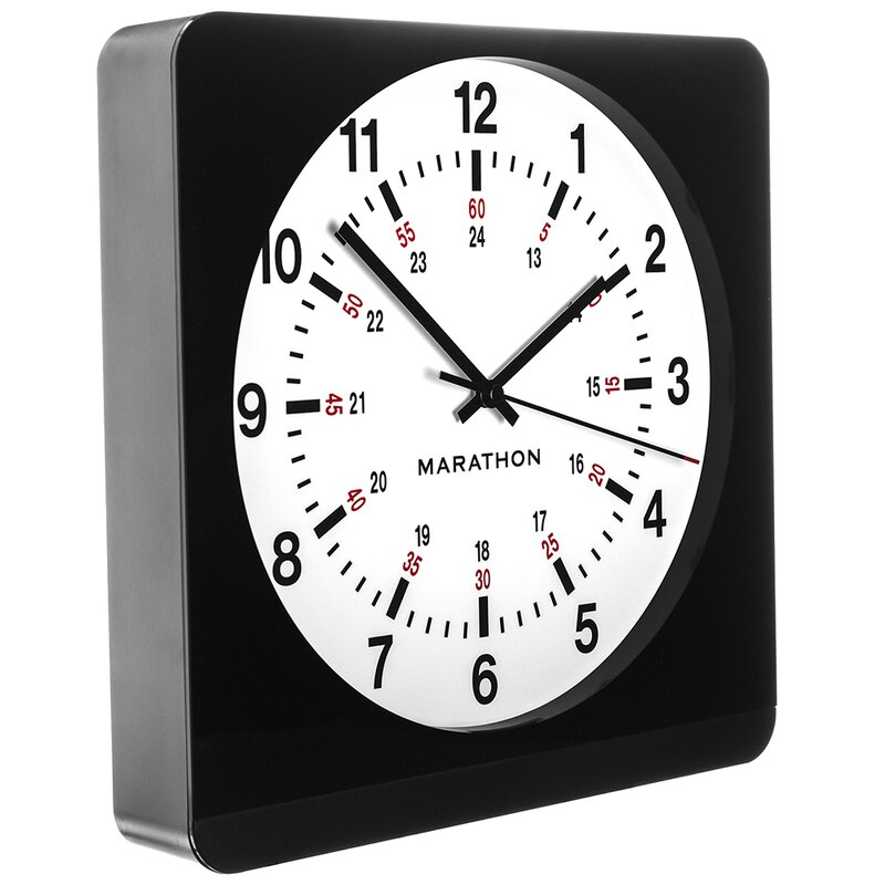 Marathon Watch Company Auto Night Light Analog Jumbo Wall