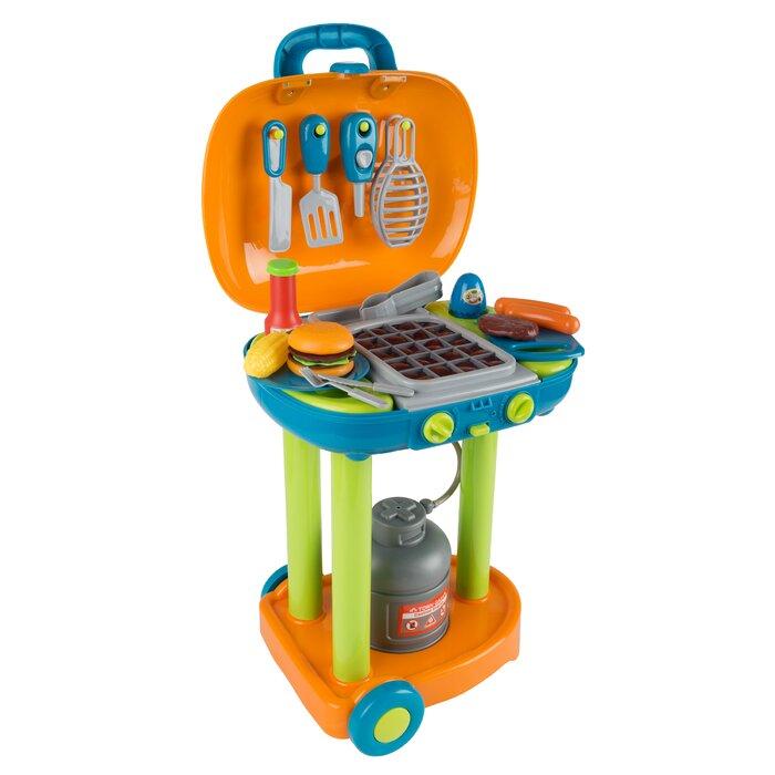 Hey Play Pretend Play Bbq Grill Toy Kitchen Set Reviews Wayfair Ca