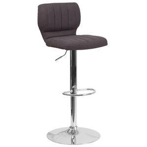 Rouillard Adjustable Height Swivel Bar Stool by Varick Gallery