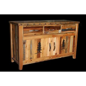 Barnwood 3 Drawer Sideboard by Utah Mountain