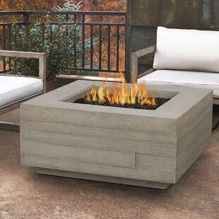 Attirant Board Form Concrete Propane/Natural Gas Fire Pit Table
