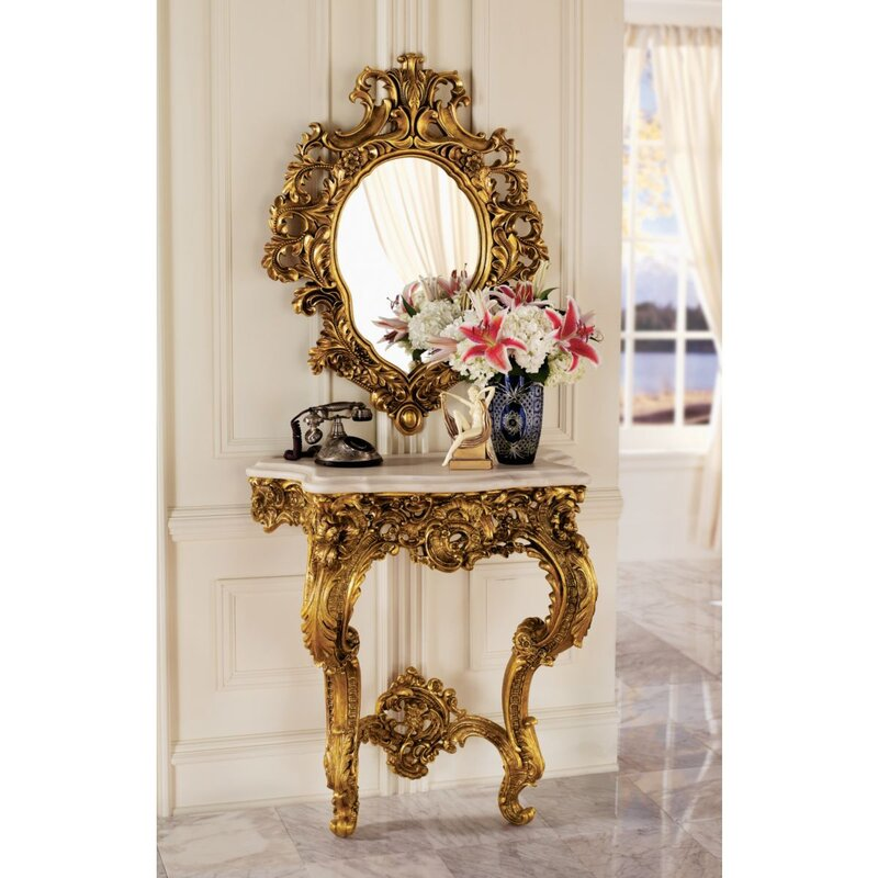 console tables and mirror set