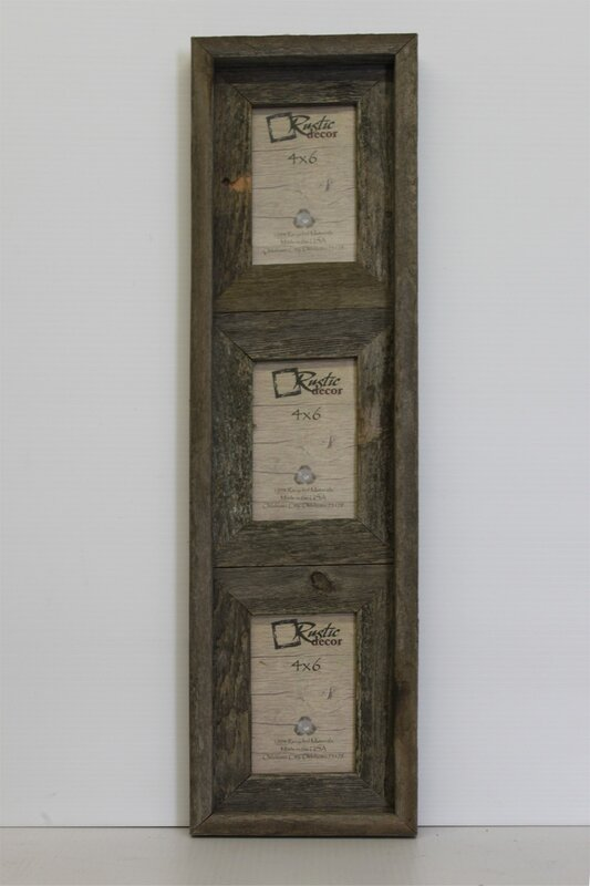 Farina Barn Wood Vertical 3 Opening Collage Picture Frame